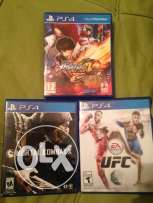The king of fighter, Mortal Kombat X, UFC for sale used perfect condit