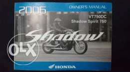 Honda Shadow 750 (owner's manual)