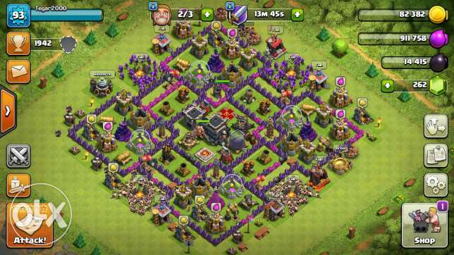 Clash of clans Townhall9 and clash Royale level 8