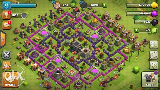 Account clash of clans town hall 9