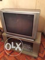 Tv toshiba 29inch and tv unit