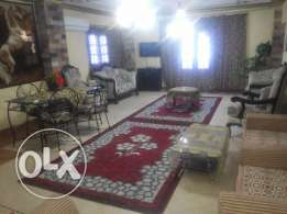Furnished apartment with roof for rent at a reasonable price