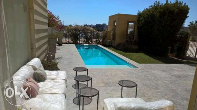 Furnished Chalet with Garden and Private Pool in Gouna New Marina