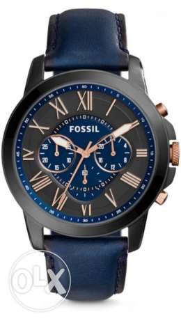 fossil grand leather