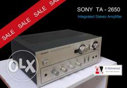 SONY Integrated Amplifier TA - 2650