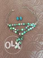 Accessories Necklace and clip earrings