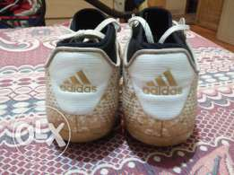Adidas Ace 16.3 size 42 white/gold studs