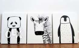 3 canas / black and w... / 20 * 25 / wall art /