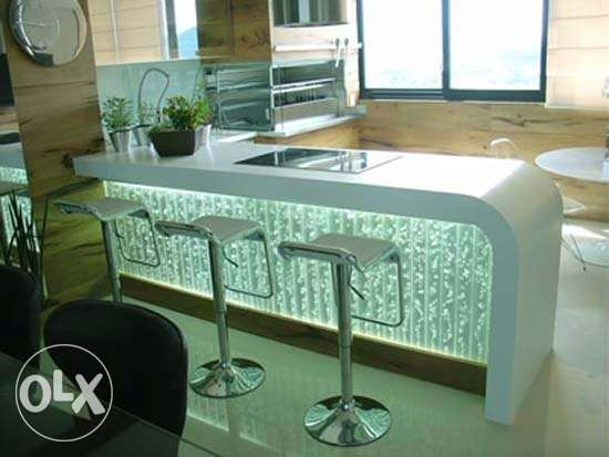 Dancing Water counters for american kitchens