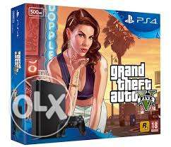 ps4 slim 500gb gta V5 bundle new