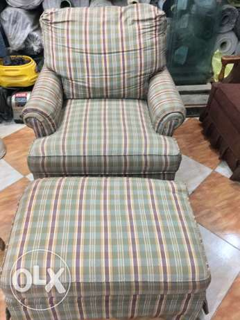 chair & ottoman from USA