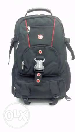"Swissgear Travel Bag Laptop 15.6"" Black Casual Swiss Gear Backpack"