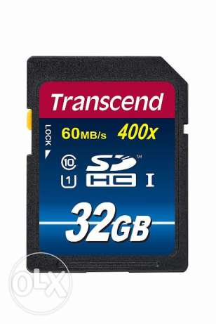 New Memory Card Transcend 32GB SDHC Class 10, Up to 60MB/s