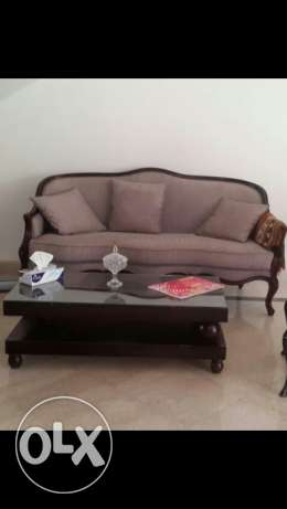 Sofa and table