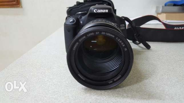 Canon 600D +kit lens + Ultrasonic canon 28-135 lens and a bag
