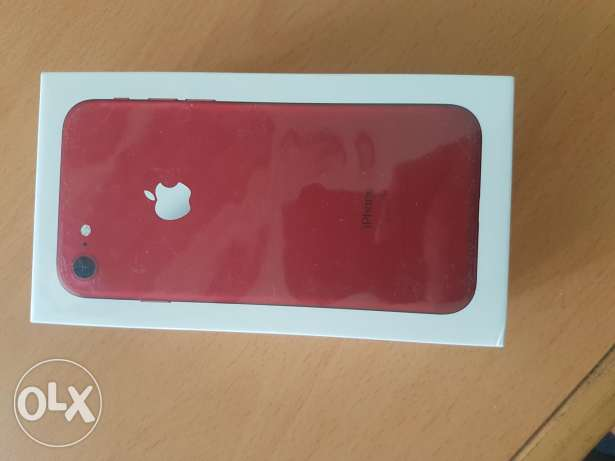 Iphone 7 128 gb red sealed new متبرشم