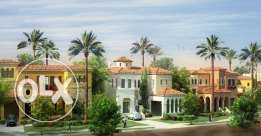 twin house for sale in compound mivida . ready to move fully finished