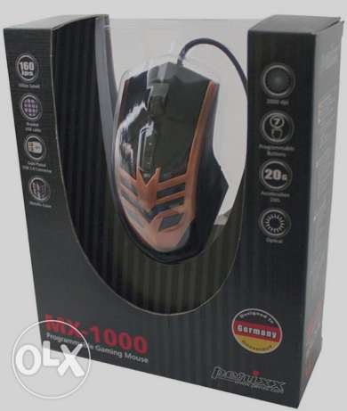 Perixx MX-1000 Copper Programmable Gaming Mouse **جديد متبرشم**