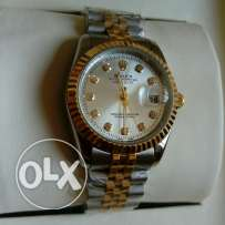 Rolex datejust half gold