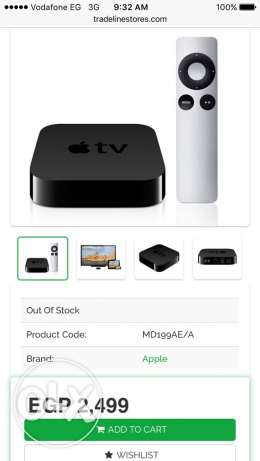 Apple TV 3rd generation. جديد متبرشم