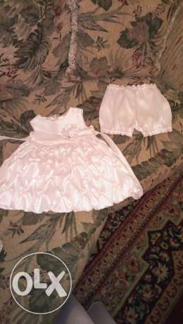 Wedding. Dress for 24month girl .. used 2 times only .. contact by
