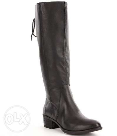 A brand new black lace up boot Genuine Leather from the US with box مصر الجديدة -  2