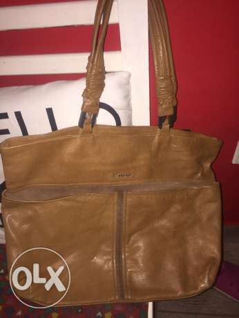 ORIGINAL calvin klein large real leather bag