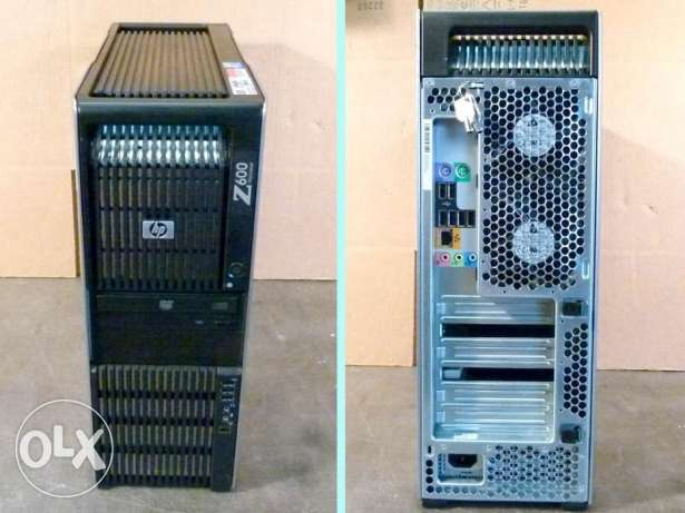HP WORKSTATION Z600//كاش 24 ميجا 2 برسيسور/FX 1800/رمات24ميجا/للجرافيك