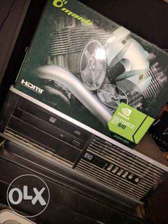 HP desktop, Nvidia AMD Phenom II X4 for games, GT610 2GB مدينة نصر -  1