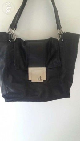 Calvin Klein black bag, genuine leather. In a very good condition