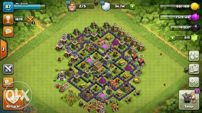 Clash of clans town 8 and 6 max