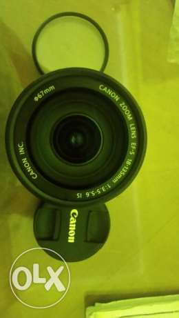 Canon lens 18-135 is + 2caps + filter UV
