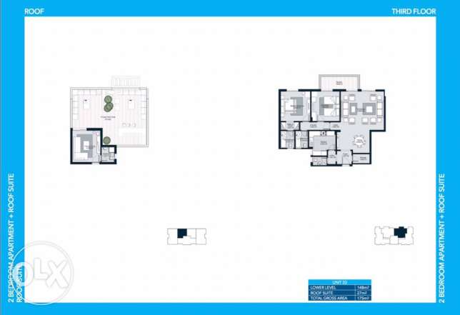 Courtyards Hot deal Apartment 175 m with roof الشيخ زايد -  2