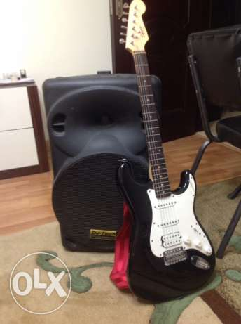Electrice Guitar with DJ-Tech for professionals