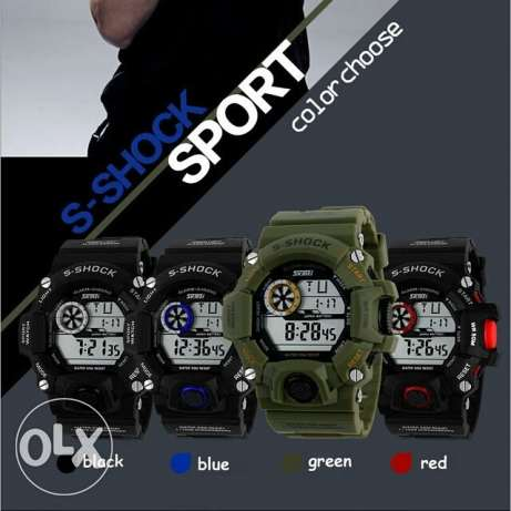 SKMEI Brand Men Military Watch LED Digital Watch 50 Waterproof Quartz العين السخنة -  3