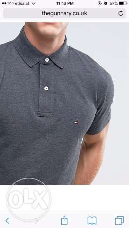 original tommy hilfiger grey polo size xlarge for 720 LE