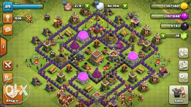 Clash of clans townhall 8 + clash royal XP level 7 arena 6