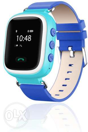 Kids GPS Smart Watch Phone and Tracker Blue with Extra Strap