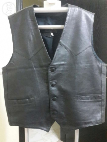 Leather black vests