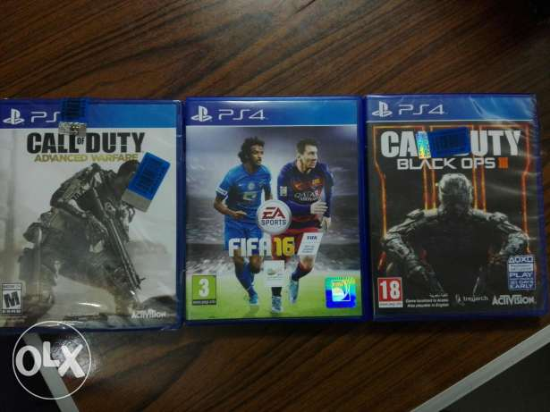 Fifa 16 & call of duty black ops 3 & call of duty advanced and