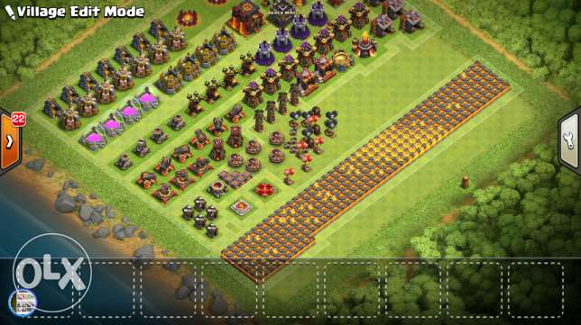COC, TH10 Max clash of clans account