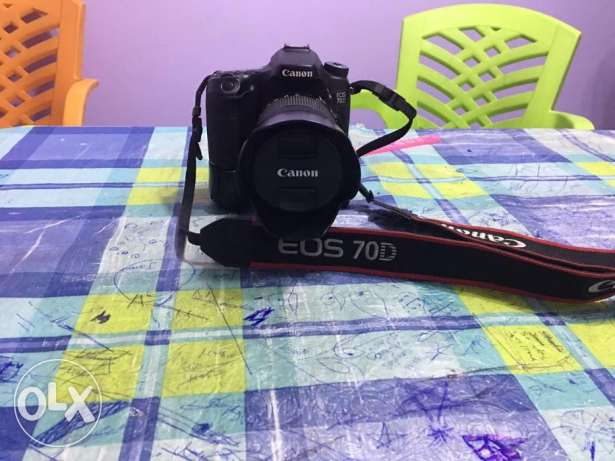 canon 70D+18-135mm+battery grib+accessories وسط القاهرة -  2