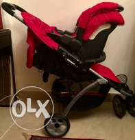 Mothercare Vesta 3 - Wheeler Travel System - Flame Red