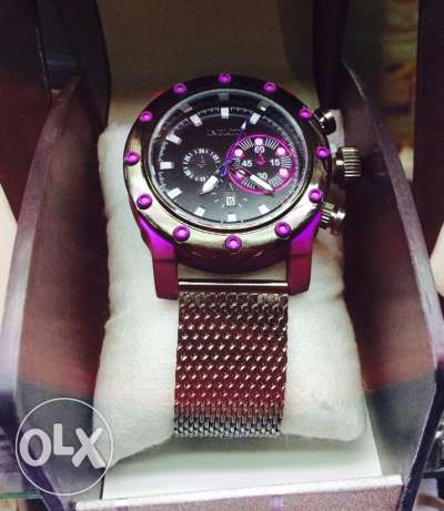 Purple watch full metal watch مدينة دمياط -  2