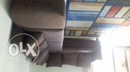Brown corner sofa- good condition