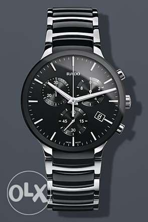 Rado Chronograph Silver Black Watch
