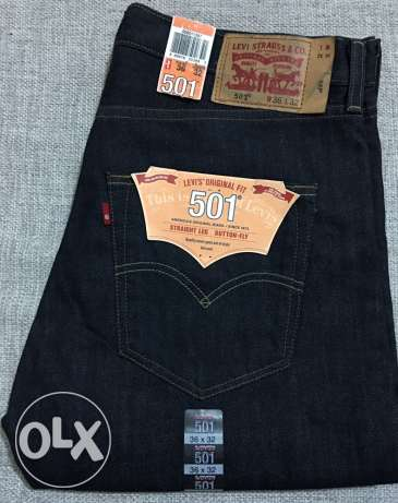New Original Levi's Jeans 501 W36 L32 Dark Blue bought from Levi's USA