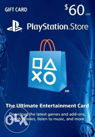 "Playstation 60 dollars gift voucher ""psn 60 usd card"""