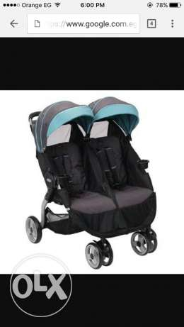 Graco double stroller New never been used مصر الجديدة -  2
