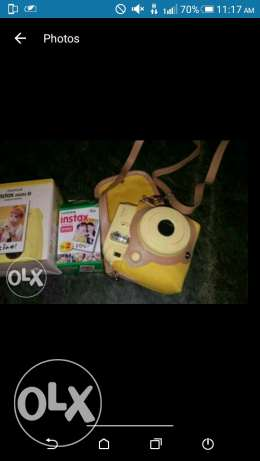 Polaroid camera fujifilm instax mini with covrr